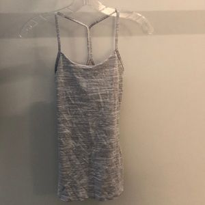 Lululemon gray and white tank, sz 2, 64263